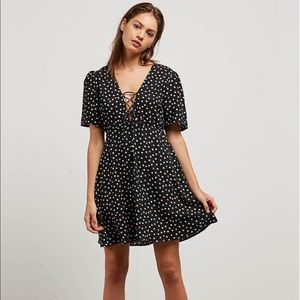 Volcom polka dot dress